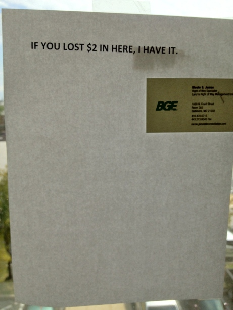 Lost and Found $2 Poster
